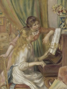 Young Girls at the Piano - Pierre-Auguste Renoir - Themes in Children's Fiction
