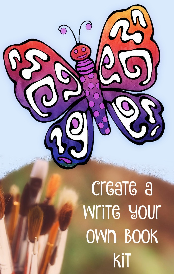 Create a 'Write Your Own Book Kit' - a great gift idea, for a budding children's picture book writer and illustrator. Let your imagination fly!